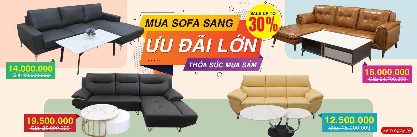 Giảm giá tới 30% khi mua sofa trong nước tại Nội Thất Xinh