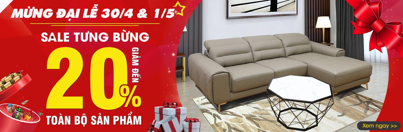 Khuyến mãi cực lớn khi mua ghế sofa từ Nội Thất Xinh dịp 30/4