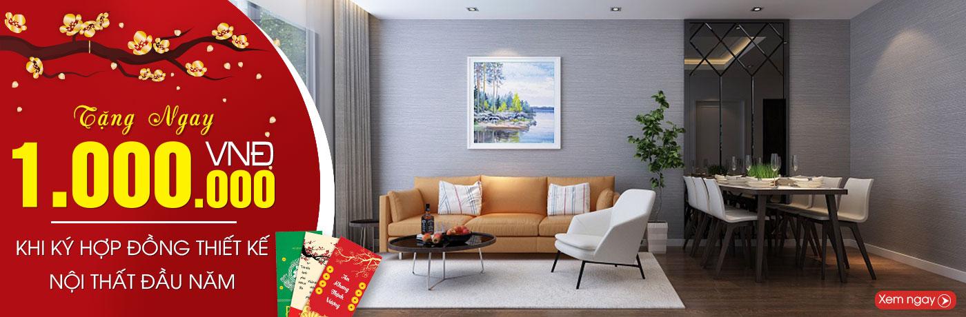 Khuyến Mãi thiết kế nội thất đầu năm tại Nội Thất Xinh