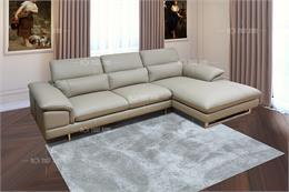 12 mẫu sofa da bò góc chữ L mẫu siêu mới siêu Hot