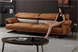 25+ Mẫu ghế sofa da phòng khách nhỏ hẹp thêm rộng nên mua