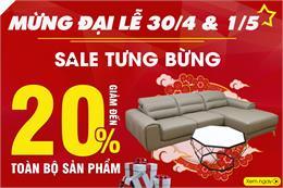 Big Sale 30/4 - 1/5: mua nội thất sale 20% toàn bộ sản phẩm