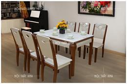 Bộ bàn ăn 6 ghế gỗ sồi giá bao nhiêu? Báo giá bàn ăn 2020