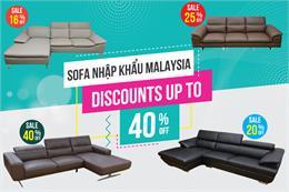 Cơ Hội Duy Nhất Trong Năm: Giảm 40% khi mua ghế sofa Malaysia