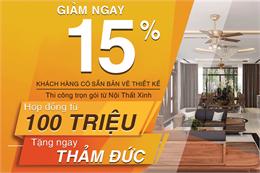 Giảm ngay 15% thi công nội thất trọn gói từ Nội Thất Xinh!