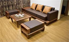 Những bộ bàn ghế gỗ đẹp dành cho căn hộ chung cư