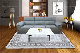 Thảm trải sàn trang trí phòng khách chọn chất liệu nào tốt?