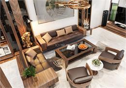 Tổng hợp các mẫu sofa gỗ óc chó cao cấp đẹp không thể rời mắt