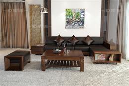 Top 10 bàn ghế gỗ phòng khách hình chữ L không bao giờ lỗi mốt