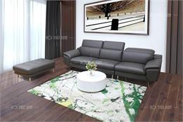 Top 10 mẫu ghế sofa da màu đen sang trọng cho phòng khách