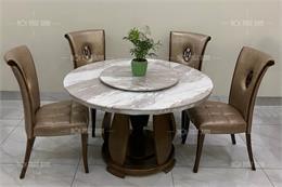 Top 13 bàn ghế ăn kiểu hiện đại làm từ chất liệu gỗ và đá