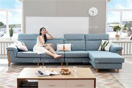 Xem ngay BST mẫu sofa góc đẹp màu xanh đập tan nắng nóng