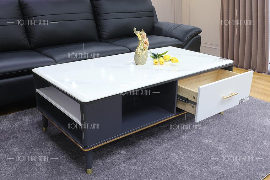 Mua bàn trà ở đâu? Xem ngay bộ bàn sofa mặt đá đẹp BT945