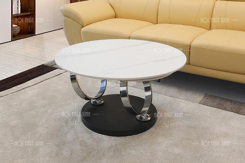 bàn trà mặt đá bt2105