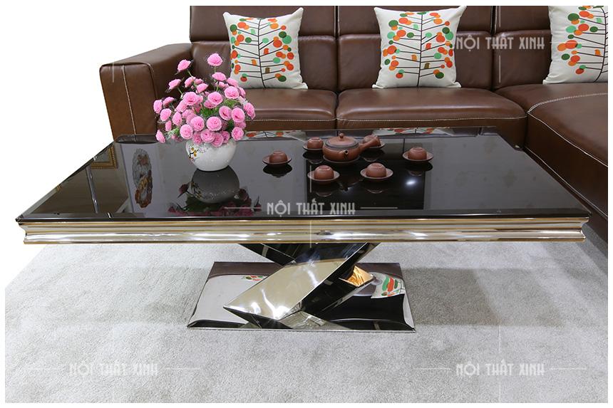 hình ảnh bàn trà sofa nhập khẩu bt907 chân chữ x