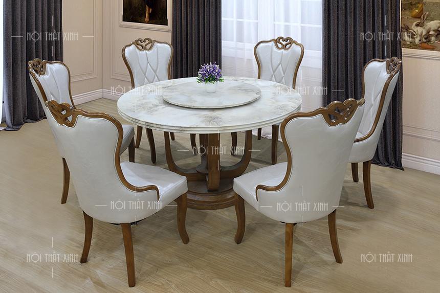 Bộ bàn ghế ăn cao cấp BA195-1