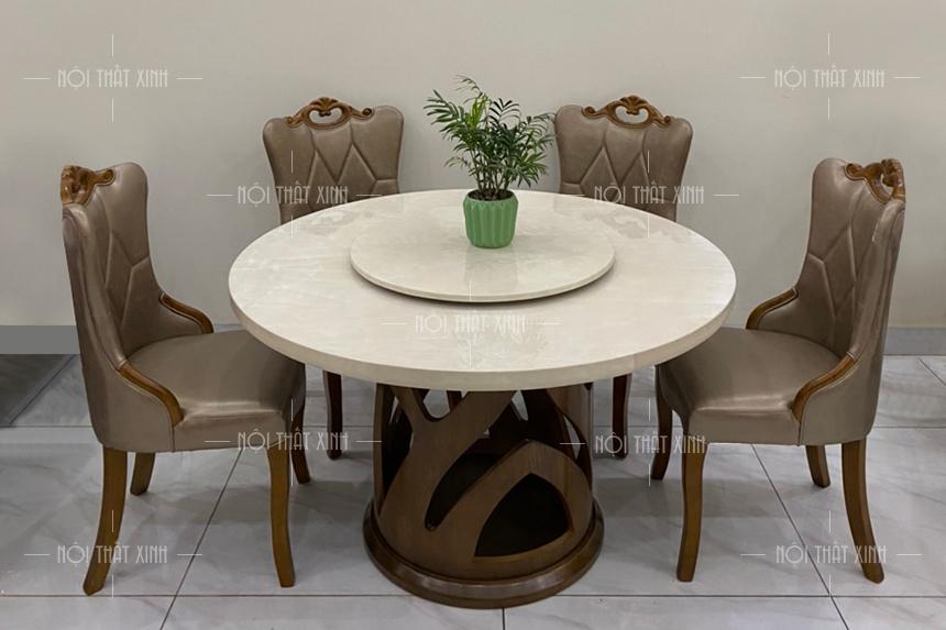 Bộ bàn ghế ăn đẹp BA2101 - mẫu bàn ăn đẹp nhất nên mua ngay!