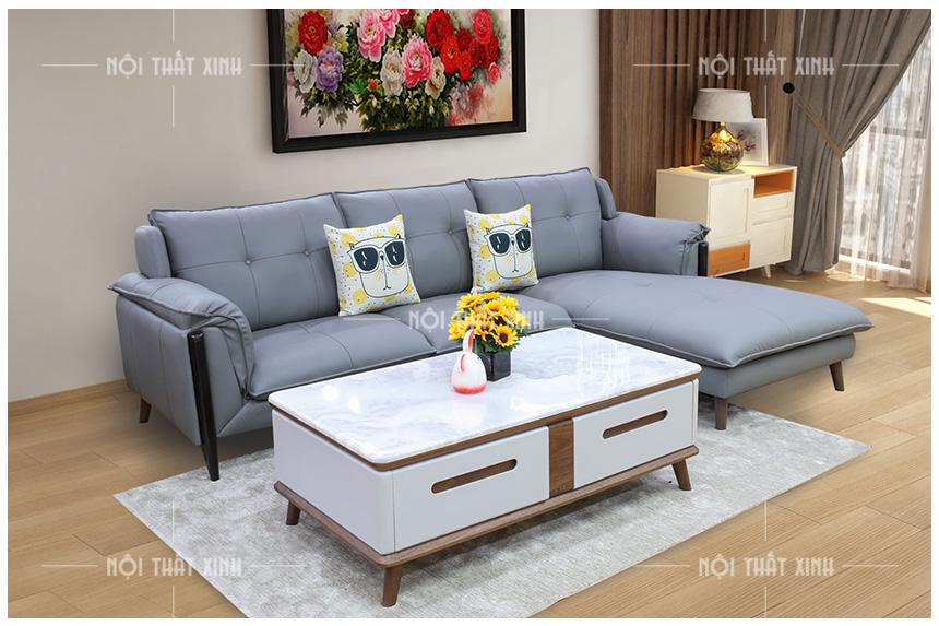 Ghế sofa đẹp NTX1911 - mẫu ghế sofa da mới cao cấp