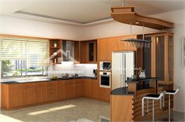 Tủ bếp gỗ sồi mã XGS05