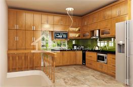 Tủ bếp gỗ sồi mã XGS06