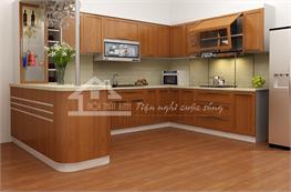 Tủ bếp gỗ sồi mã XGS07