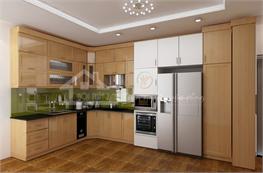 Tủ bếp gỗ sồi mã XGS08