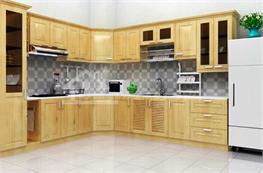Tủ bếp gỗ sồi mã XGS10
