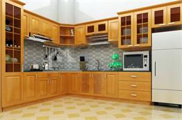 Tủ bếp gỗ sồi mã XGS11