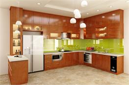 Tủ bếp gỗ xoan đào mã XXD02