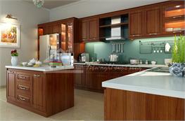 Tủ bếp gỗ xoan đào mã XXD04