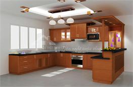 Tủ bếp gỗ xoan đào mã XXD05