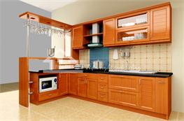 Tủ bếp gỗ xoan đào mã XXD06