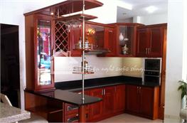 Tủ bếp gỗ xoan đào mã XXD10