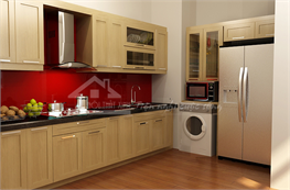 Tủ bếp gỗ công nghiệp mã XCN02