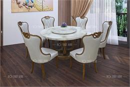 Bộ bàn ghế ăn đẹp 6 ghế BA195-1