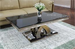 Bàn trà sofa mặt kính BT907-1