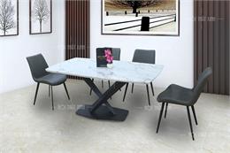 Bộ bàn ăn 6 ghế mặt đá BA1908