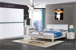 Bộ giường tủ phòng ngủ nhập khẩu GT108