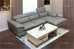 Ghế sofa đẹp H2068-GN da thật 100%