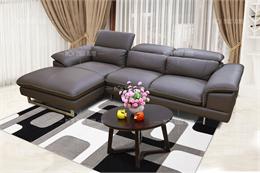 Ghế sofa đẹp H9270-GN da thật 100%