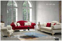 Ghế sofa nỉ tân cổ điển CD1864