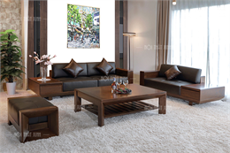 Sofa gỗ óc chó cao cấp XGO09