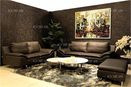 Sofa da thật 100% nhập Malaysia H2076-V