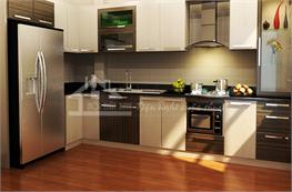 Tủ bếp gỗ công nghiệp mã XCN06