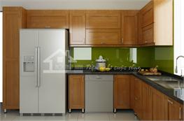 Tủ bếp gỗ sồi mã XGS03