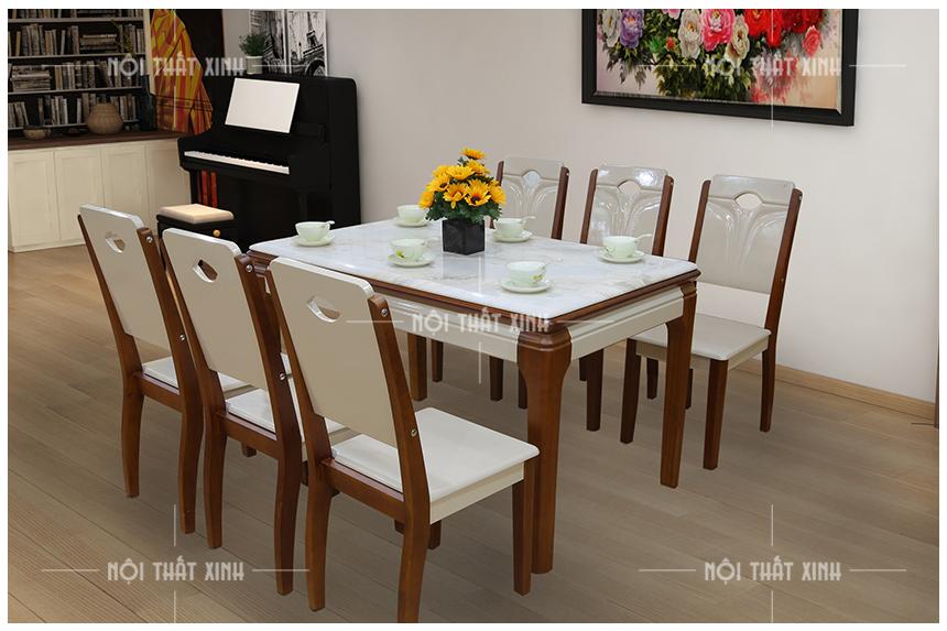 Bàn ghế ăn 6 ghế